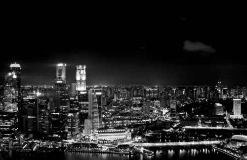 Singapore in monochrome
